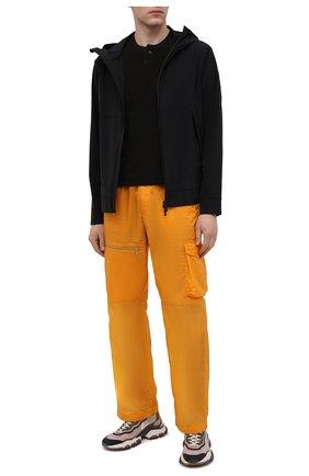 Мужская хлопковая футболка BOTTEGA VENETA темно-коричневого цвета, арт. 656849/V0UE0 | Фото 2 (Рукава: Короткие; Стили: Минимализм; Материал внешний: Хлопок; Принт: Без принта; Длина (для топов): Стандартные)