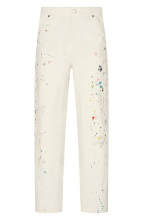 Мужские джинсы DIOR белого цвета, арт. 183D023AY997C070 | Фото 1