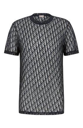Мужская футболка DIOR темно-синего цвета, арт. 183J652A0537C585 | Фото 1