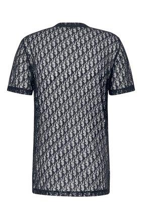 Мужская футболка DIOR темно-синего цвета, арт. 183J652A0537C585 | Фото 2