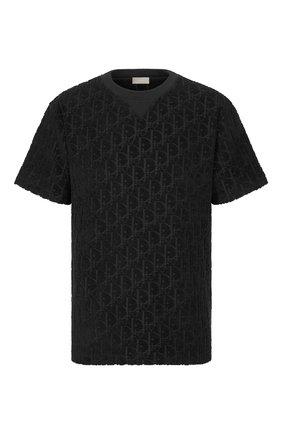Мужская хлопковая футболка DIOR черного цвета, арт. 113J692A0614C989 | Фото 1