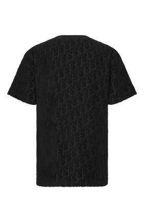 Мужская хлопковая футболка DIOR черного цвета, арт. 113J692A0614C989 | Фото 2