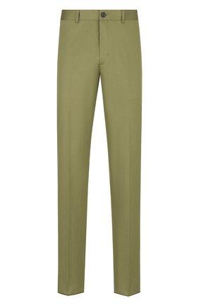 Мужские хлопковые брюки DIOR хаки цвета, арт. 013C104A5127C630 | Фото 1