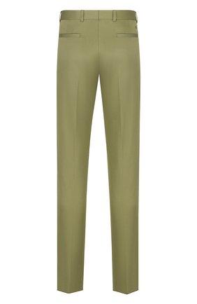 Мужские хлопковые брюки DIOR хаки цвета, арт. 013C104A5127C630 | Фото 2