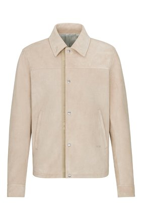 Мужская замшевая куртка-рубашка DIOR бежевого цвета, арт. 013L428A0487C100 | Фото 1