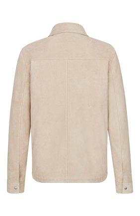 Мужская замшевая куртка-рубашка DIOR бежевого цвета, арт. 013L428A0487C100 | Фото 2