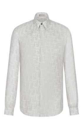 Мужская шелковая рубашка DIOR серого цвета, арт. 013C501A5141C880 | Фото 1
