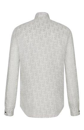 Мужская шелковая рубашка DIOR серого цвета, арт. 013C501A5141C880 | Фото 2