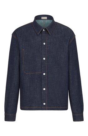 Мужская джинсовая куртка-рубашка DIOR синего цвета, арт. 033D490A272XC585 | Фото 1