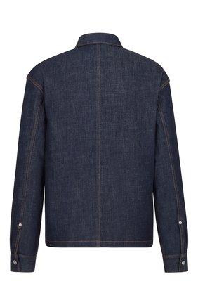 Мужская джинсовая куртка-рубашка DIOR синего цвета, арт. 033D490A272XC585 | Фото 2