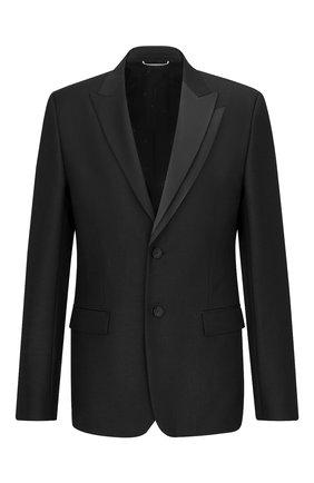 Мужской шерстяной пиджак DIOR черного цвета, арт. 183C203A5113C900 | Фото 1