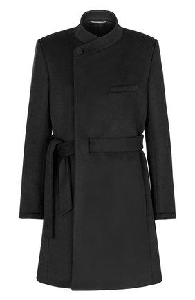 Мужской пальто из шерсти и кашемира DIOR черного цвета, арт. 183C354A3183C900 | Фото 1