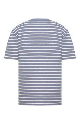 Мужская футболка из шелка и хлопка DIOR синего цвета, арт. 183M647AT234C570 | Фото 2