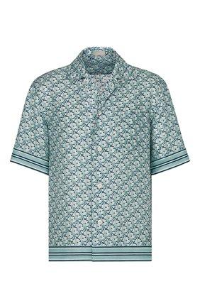 Мужская шелковая рубашка DIOR голубого цвета, арт. 113C519A4751C075 | Фото 1