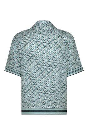 Мужская шелковая рубашка DIOR голубого цвета, арт. 113C519A4751C075 | Фото 2
