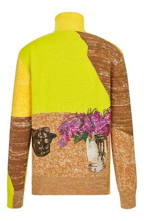 Мужской кашемировый свитер DIOR желтого цвета, арт. 183M643AT249C287 | Фото 2
