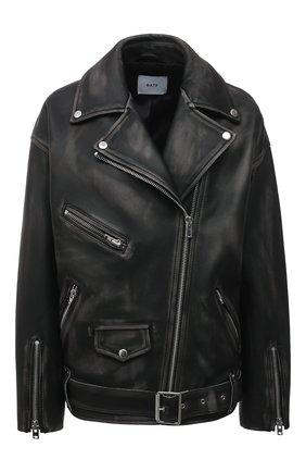 Женская кожаная куртка BATS черного цвета, арт. FW20/0_012 | Фото 1