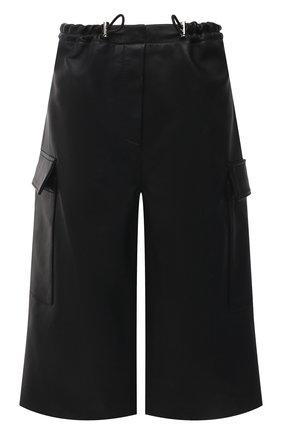 Женские кожаные шорты BATS черного цвета, арт. FW20/S_024 | Фото 1 (Женское Кросс-КТ: Шорты-одежда; Стили: Гламурный; Материал внешний: Синтетический материал; Кросс-КТ: Широкие; Длина Ж (юбки, платья, шорты): До колена; Материал подклада: Вискоза)