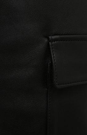 Женские кожаные шорты BATS черного цвета, арт. FW20/S_024 | Фото 5 (Женское Кросс-КТ: Шорты-одежда; Стили: Гламурный; Материал внешний: Синтетический материал; Кросс-КТ: Широкие; Длина Ж (юбки, платья, шорты): До колена; Материал подклада: Вискоза)
