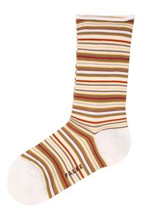Женские хлопковые носки FALKE белого цвета, арт. 46408 | Фото 1
