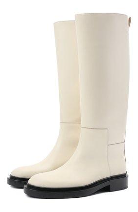 Женские кожаные сапоги JIL SANDER белого цвета, арт. JS36051B-13052 | Фото 1