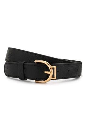 Женский кожаный ремень COCCINELLE черного цвета, арт. E3 HZ5 11 36 01   Фото 1