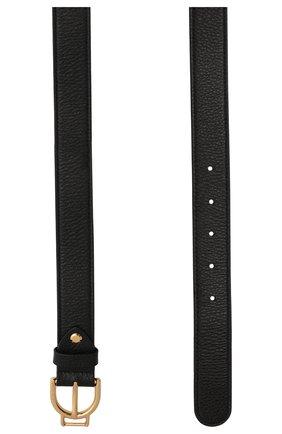 Женский кожаный ремень COCCINELLE черного цвета, арт. E3 HZ5 11 36 01   Фото 2