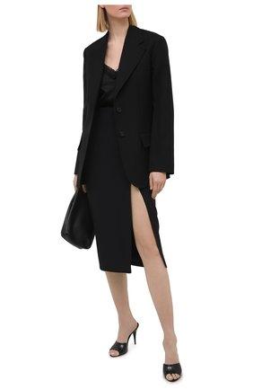 Женский шелковый топ MAX&MOI черного цвета, арт. PERH0RTA | Фото 2