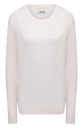 Женский пуловер из шелка и льна MAX&MOI белого цвета, арт. E21PEACE | Фото 1