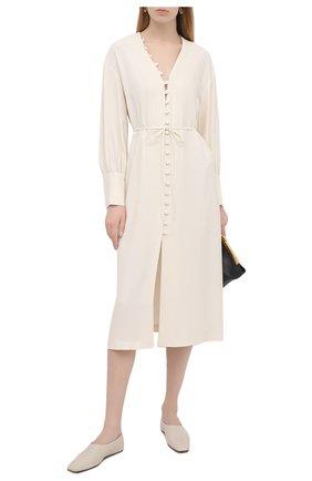 Женское платье ERIKA CAVALLINI кремвого цвета, арт. S1/P/P1SR08 | Фото 2