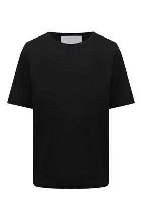 Женская хлопковая футболка ERIKA CAVALLINI черного цвета, арт. S1/P/P1SK01 | Фото 1