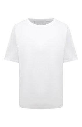 Женская хлопковая футболка ERIKA CAVALLINI белого цвета, арт. S1/P/P1SK01 | Фото 1