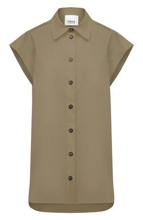 Женская хлопковая рубашка ERIKA CAVALLINI хаки цвета, арт. S1/P/P1SJ10 | Фото 1