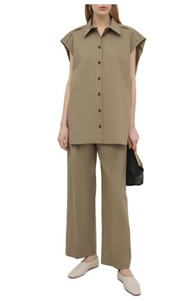 Женская хлопковая рубашка ERIKA CAVALLINI хаки цвета, арт. S1/P/P1SJ10 | Фото 2