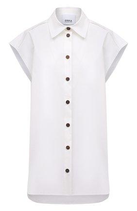 Женская хлопковая рубашка ERIKA CAVALLINI белого цвета, арт. S1/P/P1SJ10 | Фото 1