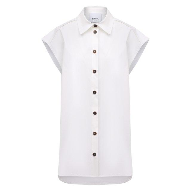 Хлопковая рубашка Erika Cavallini