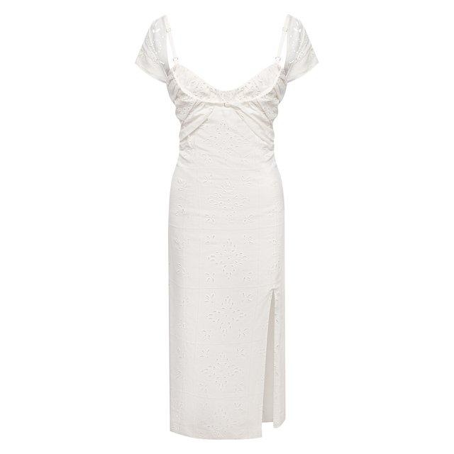 Платье изо льна и вискозы Jacquemus