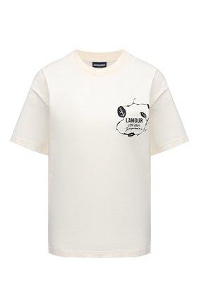 Женская хлопковая футболка JACQUEMUS белого цвета, арт. 211JS15/22402G | Фото 1