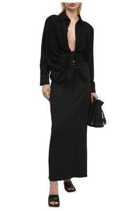 Женская рубашка из вискозы JACQUEMUS черного цвета, арт. 211SH02/102990 | Фото 2