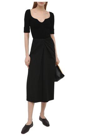 Женская юбка VALENTINO черного цвета, арт. VB0RA7K16B5 | Фото 2