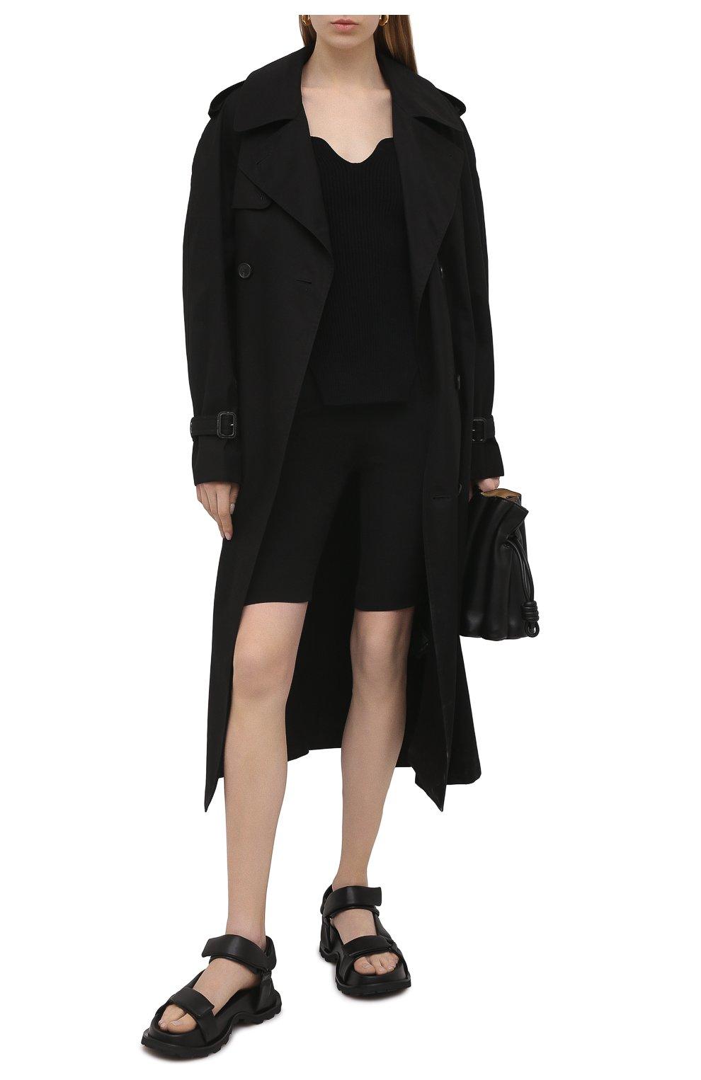 Женские шорты из шерсти и шелка VALENTINO черного цвета, арт. VB0RD0856BS | Фото 2