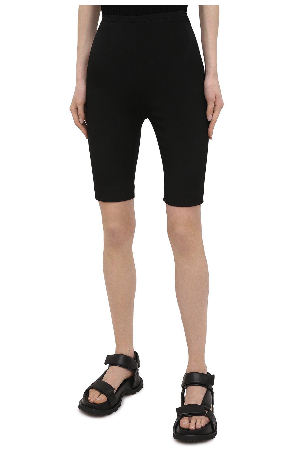 Женские шорты из шерсти и шелка VALENTINO черного цвета, арт. VB0RD0856BS | Фото 3