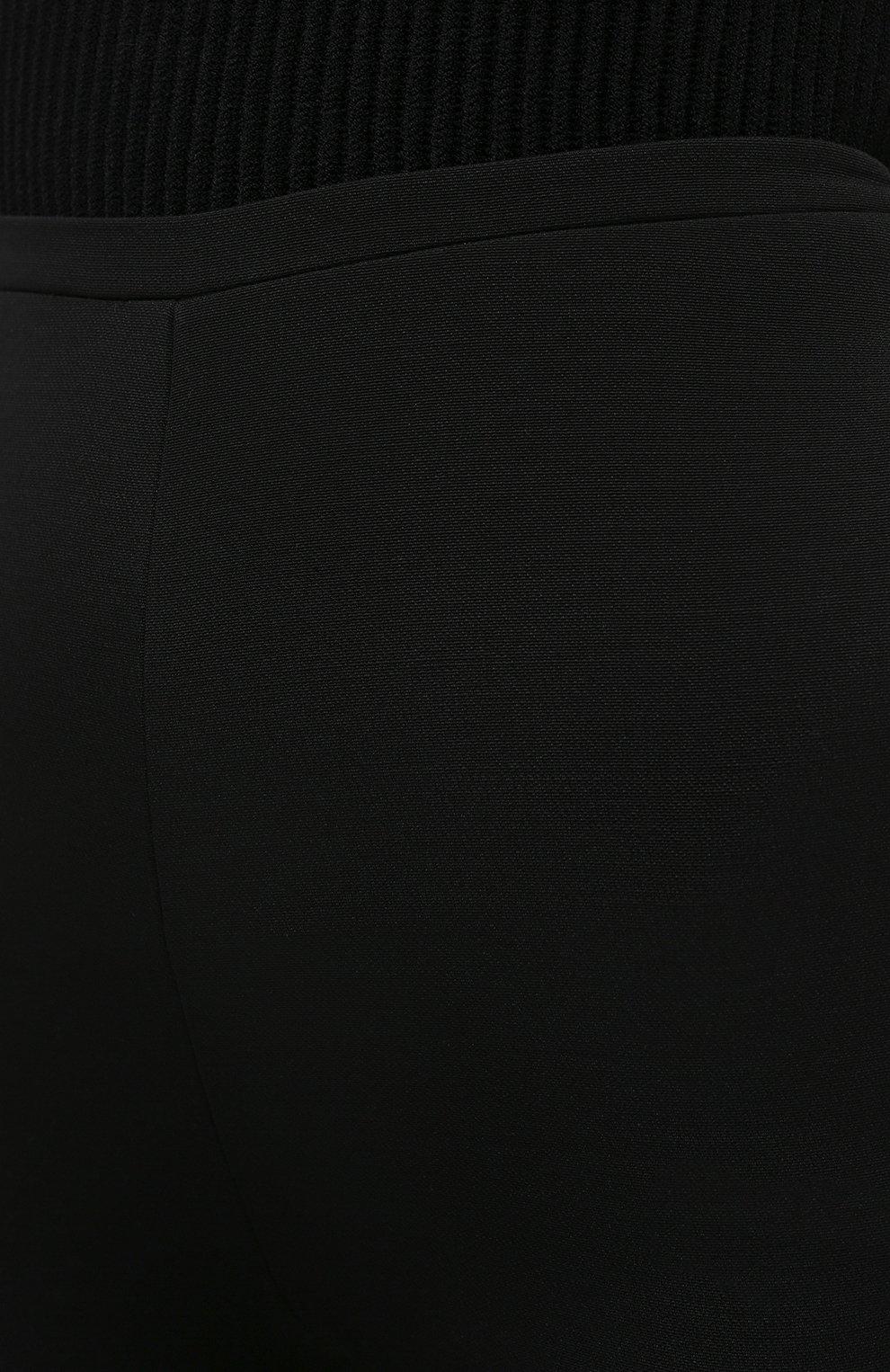 Женские шорты из шерсти и шелка VALENTINO черного цвета, арт. VB0RD0856BS | Фото 5