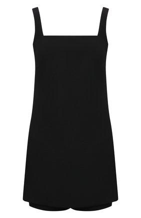 Женский комбинезон из шерсти и шелка VALENTINO черного цвета, арт. VB0VE1M06BS | Фото 1