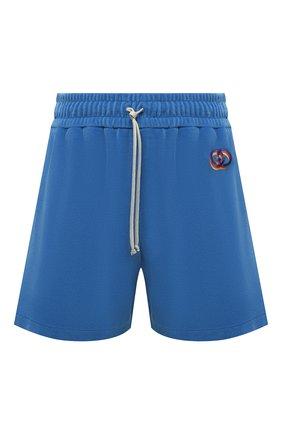 Женские хлопковые шорты GUCCI синего цвета, арт. 650630/XJDCV   Фото 1