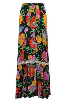 Женская юбка из вискозы GUCCI разноцветного цвета, арт. 652660/ZAGH5 | Фото 1 (Длина Ж (юбки, платья, шорты): Макси; Материал внешний: Вискоза; Стили: Гламурный; Женское Кросс-КТ: Юбка-одежда)