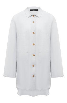 Женская рубашка из вискозы и льна PIETRO BRUNELLI белого цвета, арт. CA0170/LI0023 | Фото 1