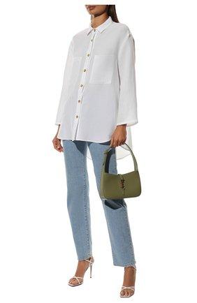 Женская рубашка из вискозы и льна PIETRO BRUNELLI белого цвета, арт. CA0170/LI0023 | Фото 2
