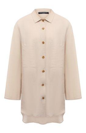 Женская рубашка из вискозы и льна PIETRO BRUNELLI светло-бежевого цвета, арт. CA0170/LI0023 | Фото 1