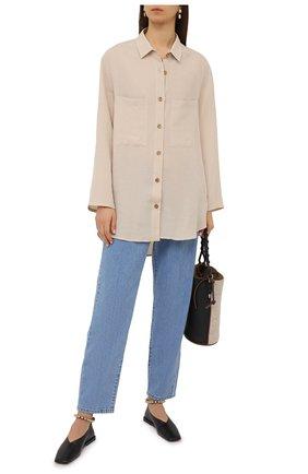 Женская рубашка из вискозы и льна PIETRO BRUNELLI светло-бежевого цвета, арт. CA0170/LI0023 | Фото 2